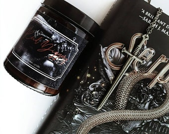 Reid Diggory candle/Book inspired/Serpent and Dove