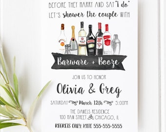 Stock the bar invite Etsy