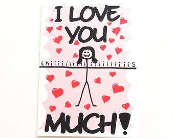 """Illustrated Valentine's Day Card 