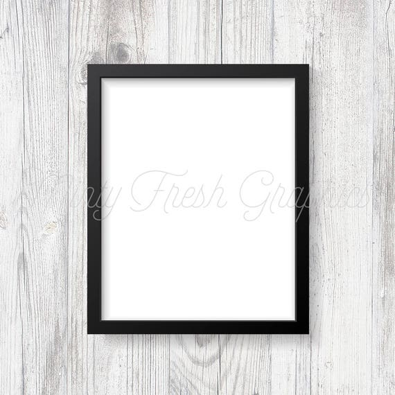 Frame Mockup Black Picture Frame White Wood Wall 16x20 | Etsy