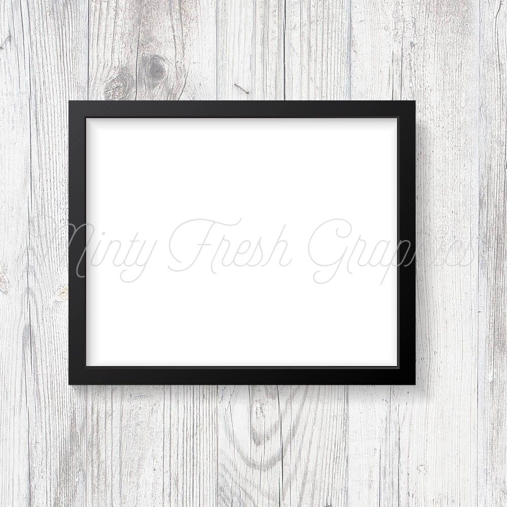 Frame Mockup schwarzen Bilderrahmen weiße Holz-Wand 16 x