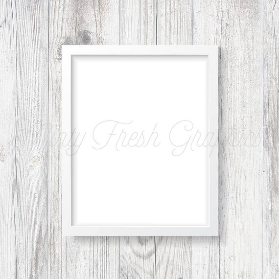 Frame Mockup White Picture Frame White Wood Wall 16x20 | Etsy