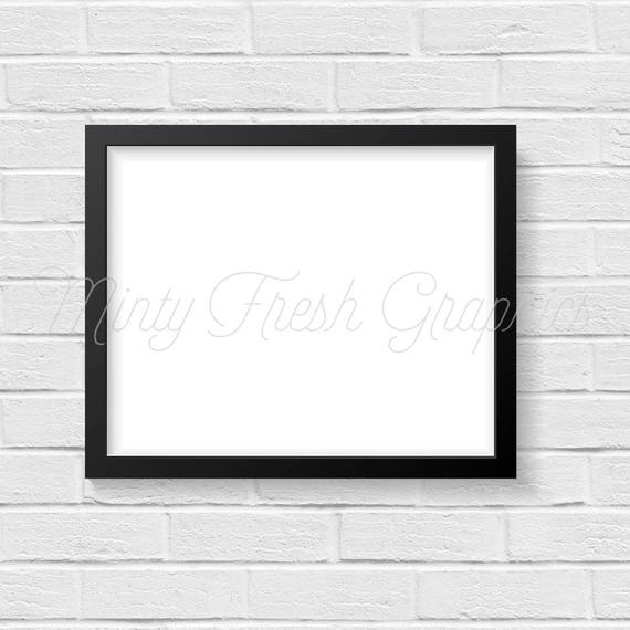 Frame Mockup Black Picture Frame White Brick Wall 16x20 | Etsy