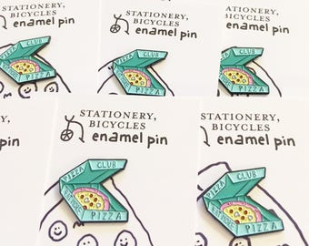 Pizza Club enamel pin (green)