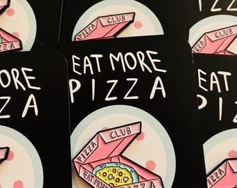 Pizza Club enamel pin (pink)