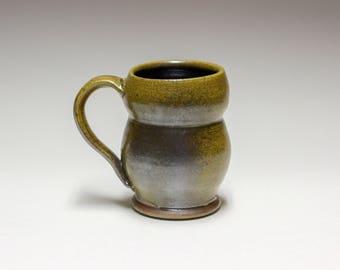 Double Curve Salt Fired Pottery Coffee/Tea Mug