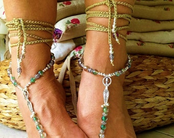 Barefoot N 301 delicate harmony of Greige and reflection of crystal glass