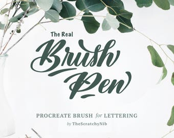 Procreate Brush-Pen Custom Brush: Instant Digital Download