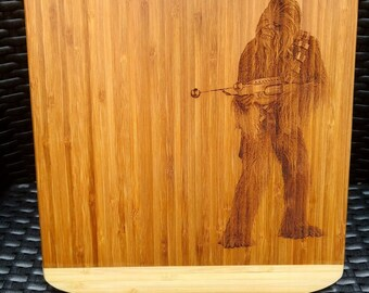 Sci-Fi Fan Art - Engraved Bamboo Chopping Board (Large)