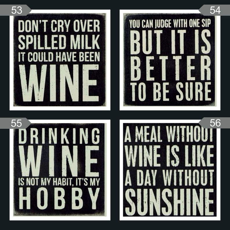 Humorous Wine Coasters  Ceramic Tile Coasters image 0