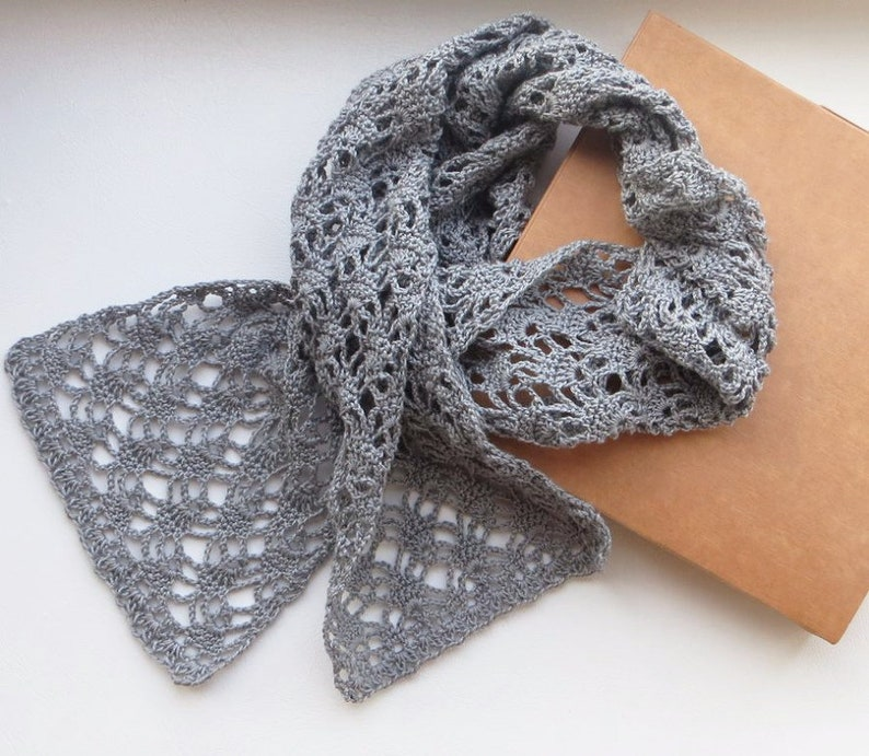 0ab8cebeb14 Scarves Long Scarves Long Scarves For Women Scarves Wrap Gray Scarf Women's  Scarf Crochet Scarf Lace Scarf Cotton Scarves