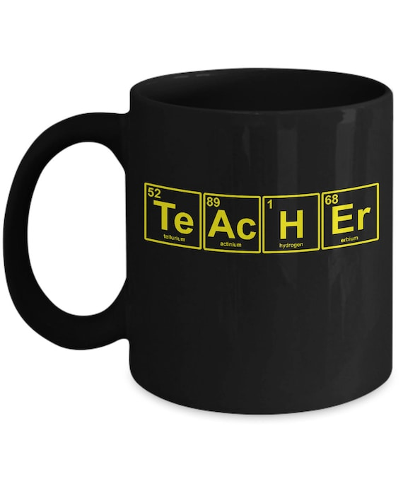 Teacher Appreciation Gift Chemical Symbols Printed In Usa