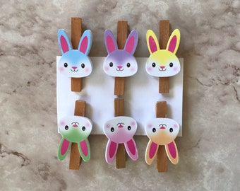 Bunny Rabbit Instant Download Spring Decorations Lamb For Spring Easter Mini Clothespins Wooden Bird Digital Scrapbooking Supplies