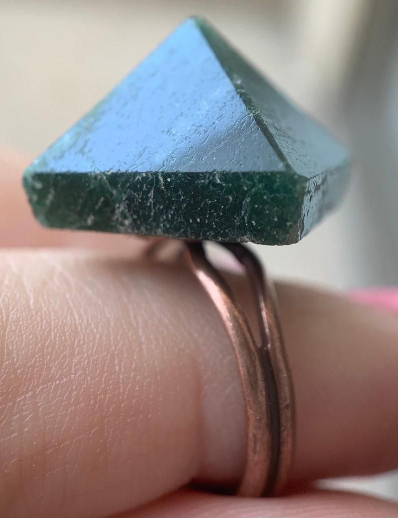 Deep Green Aventurine Ring