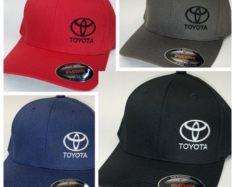 TOYOTA Embroidered FLEXFIT Baseball Hat   Flexfit Sty 6277 8c58370a73c