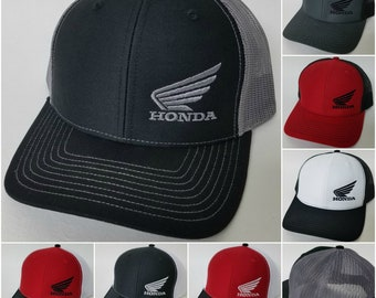 2e458b58531 HONDA MC Wing Embroidered RICHARDSON Trucker Mesh Snapback Baseball Hat    Honda Motocycle Richardson Sty 112