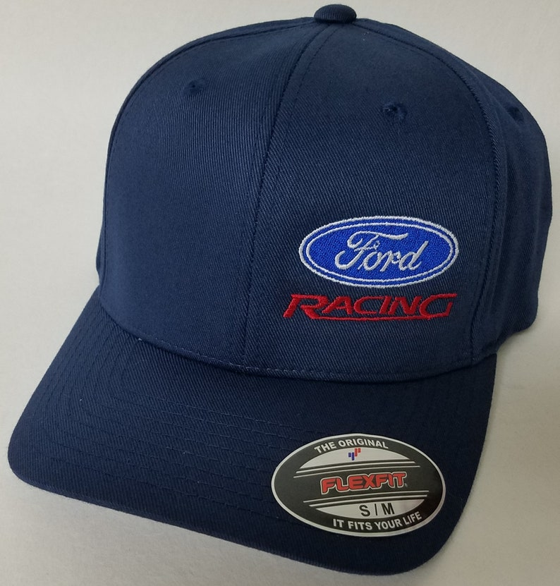 b388e62a36f0f FORD RACING Embroidered FLEXFIT Baseball Hat   Flexfit Sty