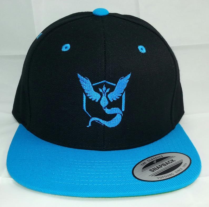 Pokemon GO Team Mystic Embroidered Snapback Baseball Hat  92c41977bd7d