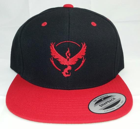 Pokemon GO Team Valor Embroidered Snapback Baseball Hat   6949592a5ae9