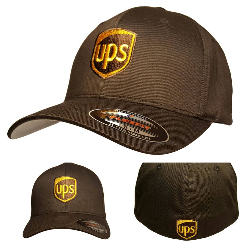 64b17974129d0 UPS Embroidered Flexfit Baseball Hat   Flexfit S M or L XL
