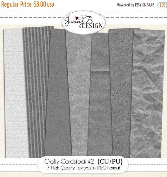 On Sale Crafty Cardstock Textures Set 2 Digital Paper Textures Paper Overlays Commercial Use Paper Textures