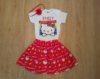 82ee4cd07 Hello Kitty Inspired Outfit, Hello Kitty Birthday, Hello Kitty Shirt, Hello  Kitty Skirt, Hello Kitty