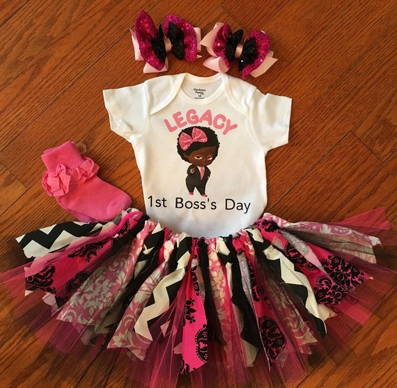 Boss Baby Birthday Outfit 1st Birthday Party Girl First Birthday Smash Cake Boss Baby Shirt Baby Tutu Outfit Boss Baby Dress Boss Baby Set