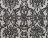 BLACK ornate design lace for evening dress, black lace fabric, evening dress lace fabric, embroidered black flower lace fabric (L19-212)