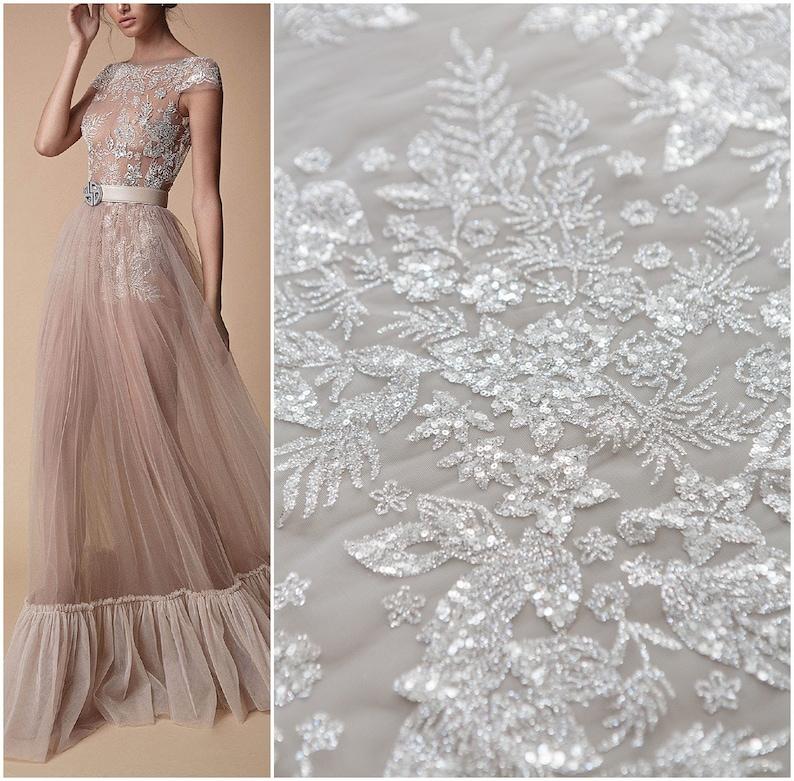DressEtsy Fabric Bridal Glitter Berta Tulle BdCWQexorE