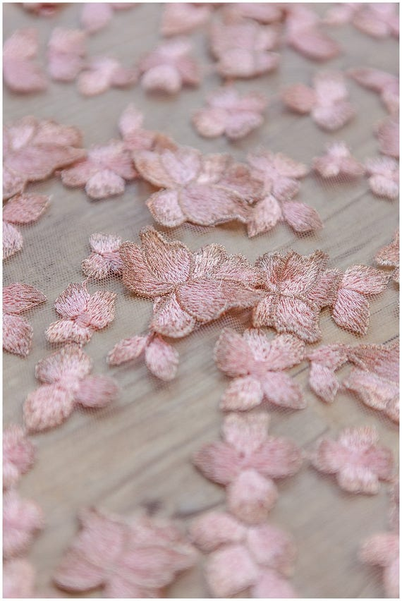 """4 Yards 8/"""" Wide Lovely Very Soft No Stretch Lace Baby Pink 078"""