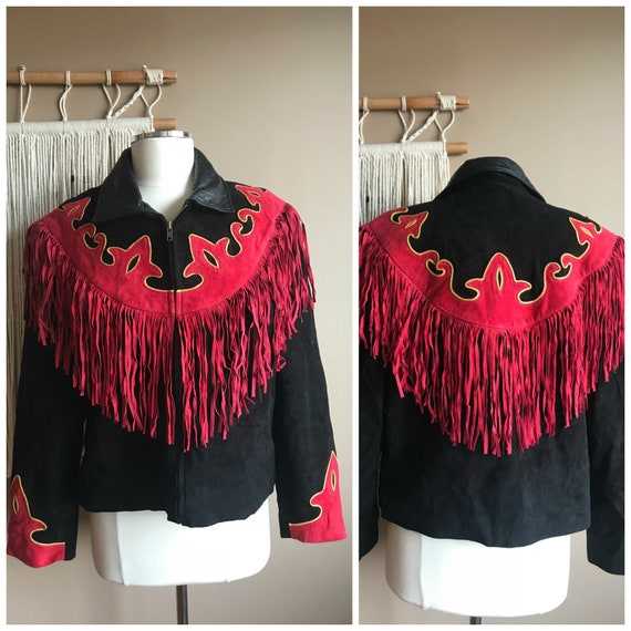 Retro Fringe Western Dress Jacket with Fringe Flam
