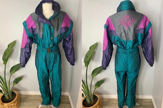 Descente Vintage One Piece Ski Suit Womens Medium