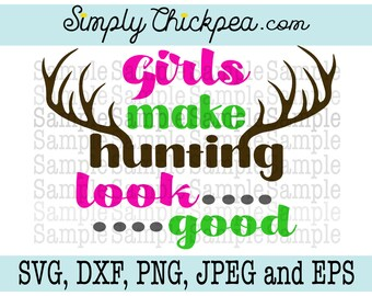 Svg Dxf Png Cutting File Jpeg And Eps Hunting Hair Etsy