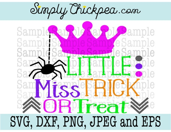 Svg Dxf Png Cutting File Jpeg And Eps Little Miss Trick Etsy