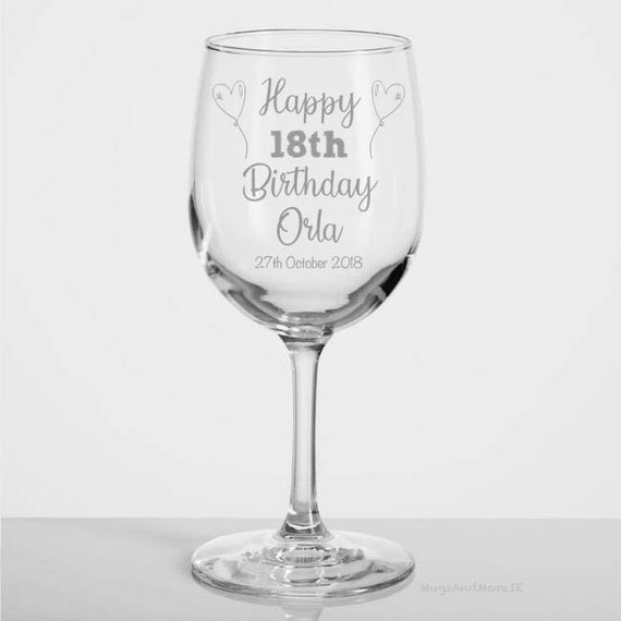 18th Birthday Gift 18th Birthday Wine Glass Gift For Her