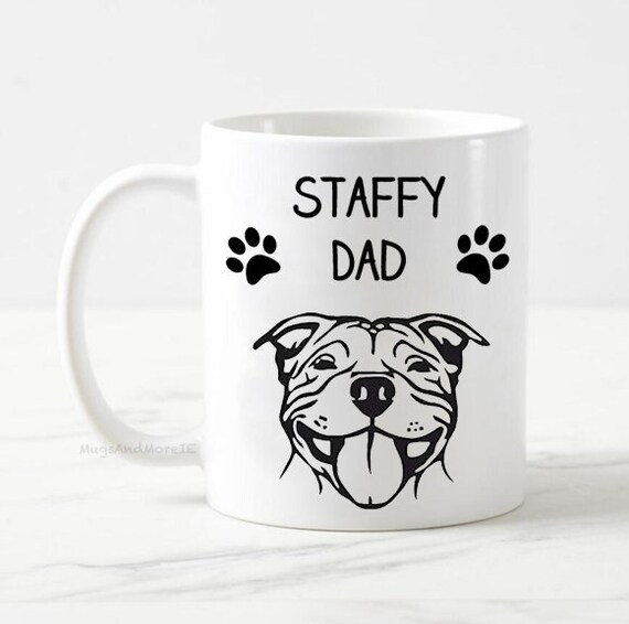 Personalized American Staffordshire Terrier Dad Gifts Best Staffy Dog Daddy Mug