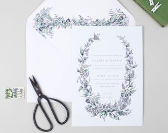 Bonny, wild flower wedding invitation