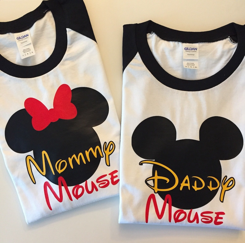 Daddy Mouse Shirt Mommy Mickey Minnie