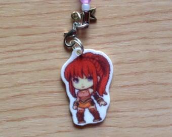 Shadow Hearts 2 Karin Koenig keychain, Karin phone charm, shadow hearts keychain, Karin keychain, anime keychain, video game keychain