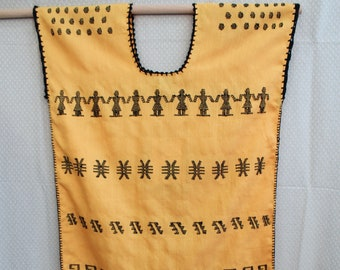 Huipil de Pinotepa by Don Luis made of waist loom with natural dyes