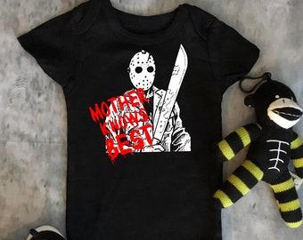 Jason - Mother Knows Best- Horror - Baby Bodysuit - Gift - Horror -