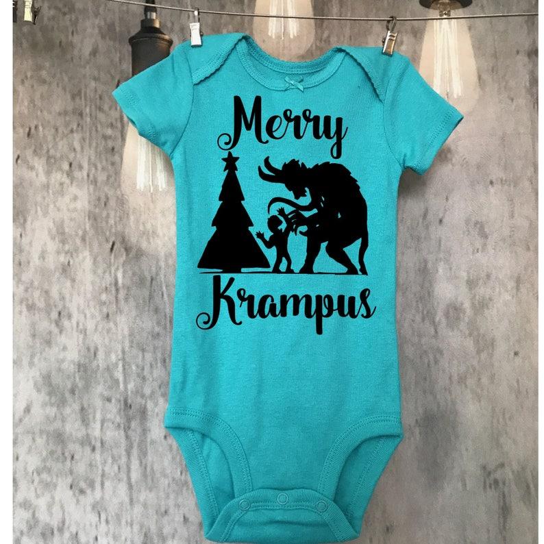 b043608765471 Merry Krampus horror kid funny gift scary halloween | Etsy