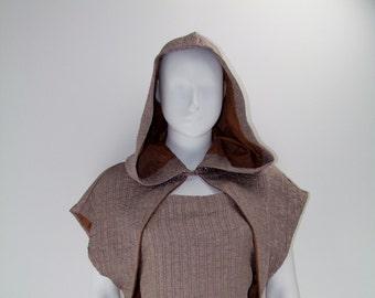 Dress and mini cape