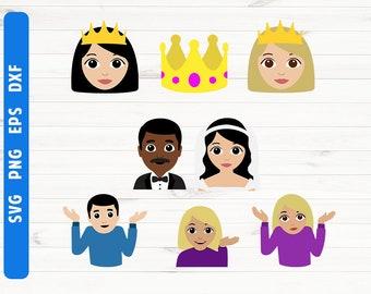 Emoji SVG Emoji clipart Cutting files Cricut Silhouette
