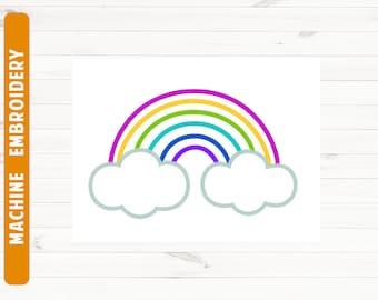 Rainbow embroidery design Rainbow PES Rainbow machine embroidery