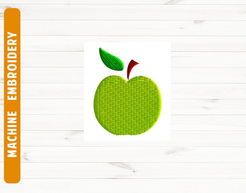 Mini Apple Embroidery Design Apple Pes Dst Embroidery File Etsy