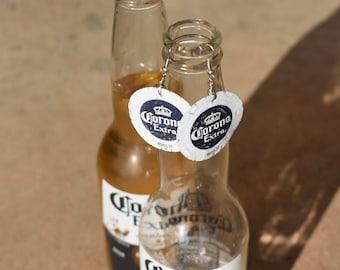 Corona Bottle Cap Earrings