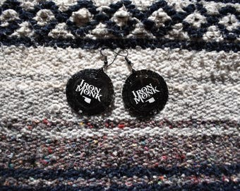 Iron Monk Bottle Cap Earrings