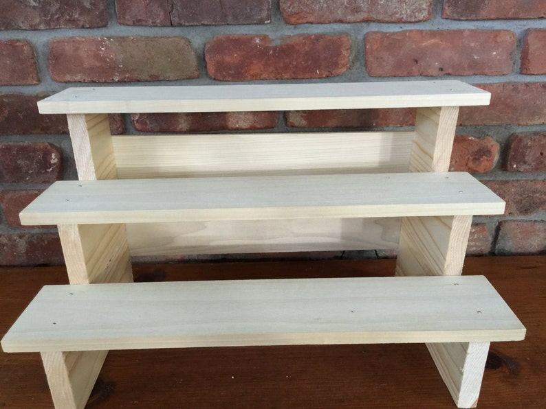 unfinished wood soap or product display shelf craft show etsy rh etsy com craft show display shelves for sale craft show display folding shelf