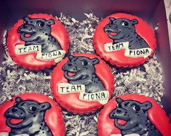 Fiona hippo sugar cookies **made to order homemade fresh****comes in 5, 6 , or 12!